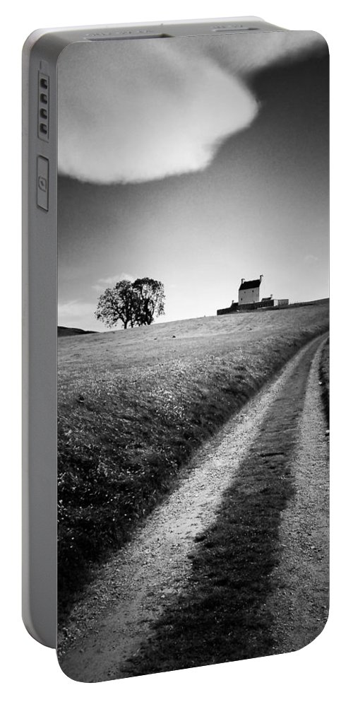 Corgarff Castle Portable Battery Charger featuring the photograph En Route To Corgarff Castle by Dave Bowman