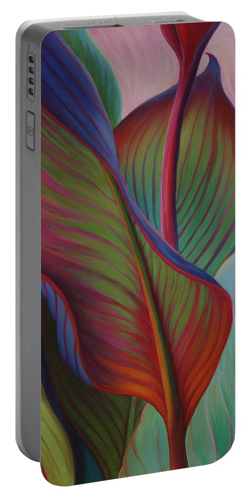 Cannas Portable Battery Charger featuring the painting Encore by Sandi Whetzel