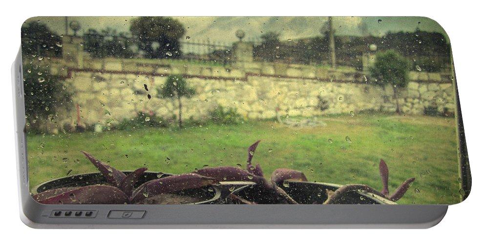 Rain Portable Battery Charger featuring the photograph Encore Un Jour by Zapista