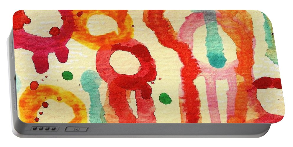 Portable Battery Charger featuring the painting Encounters 3 by Amy Vangsgard