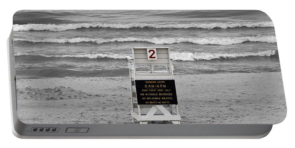 Beach Portable Battery Charger featuring the photograph End Of Summer by Jackson Pearson