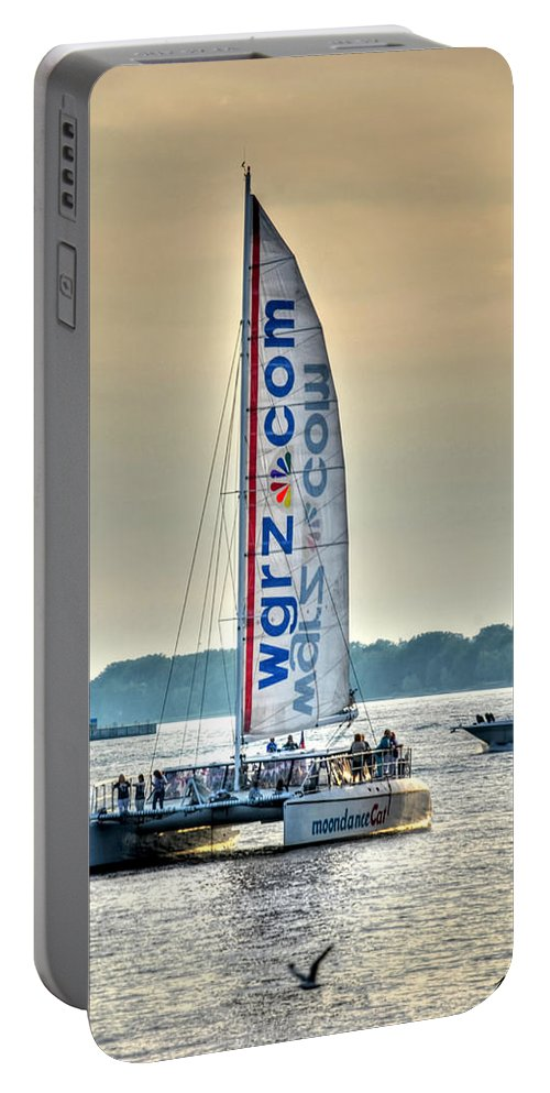 Wgrz Portable Battery Charger featuring the photograph End Of The Tour Back To Shore by Michael Frank Jr