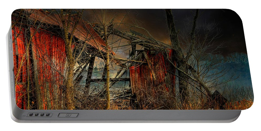 Dystopia Portable Battery Charger featuring the photograph End Times by Lois Bryan