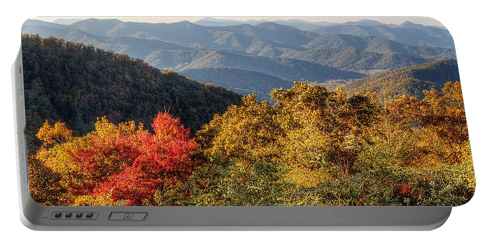 Mountains Portable Battery Charger featuring the photograph Endless Autumn Mountains by Emily Kay