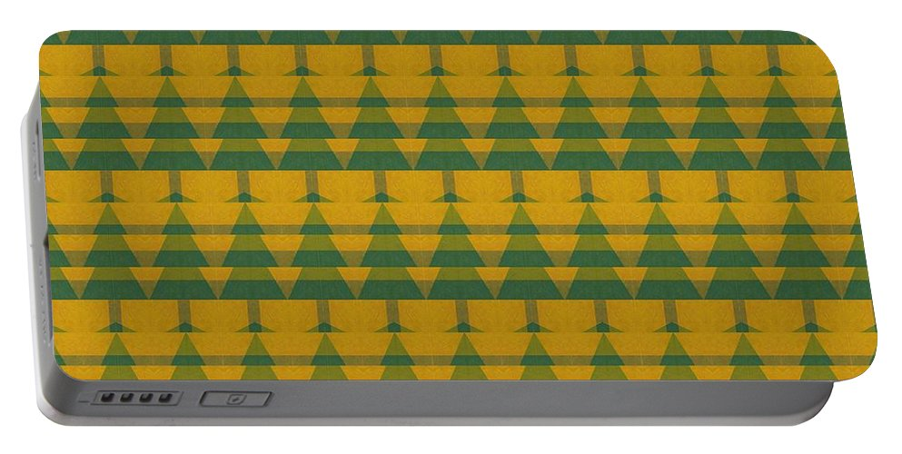 Pine Trees Portable Battery Charger featuring the digital art Endless Forest by Michelle Calkins