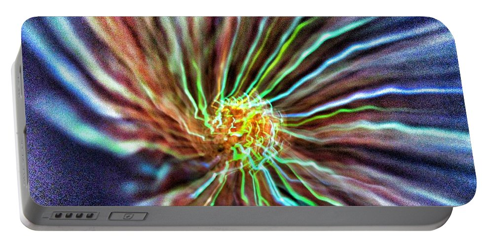 Energy Portable Battery Charger featuring the photograph Energy - Abstract by Marianna Mills