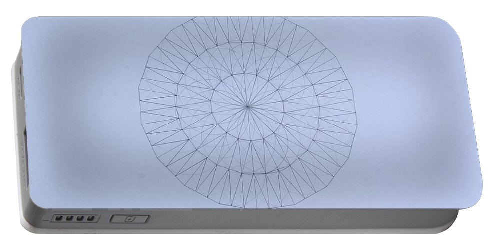 Jason Padgett Portable Battery Charger featuring the drawing Energy Wave 20 Degree Frequency by Jason Padgett