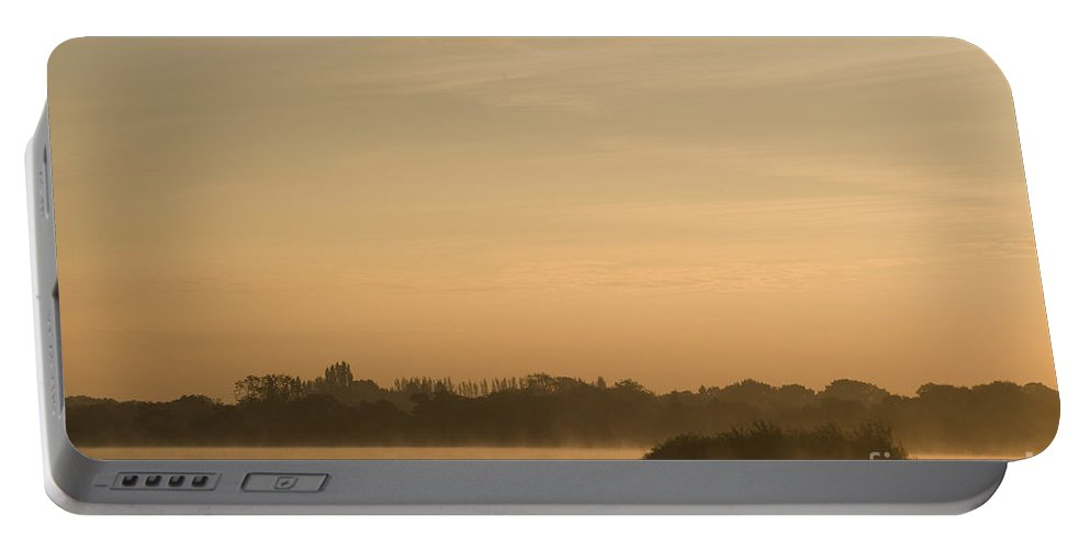 Atmospheric Portable Battery Charger featuring the photograph Engine Pool Sunrise by Anne Gilbert