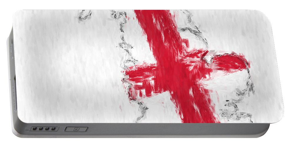 England Portable Battery Charger featuring the photograph England Painted Flag Map by Antony McAulay