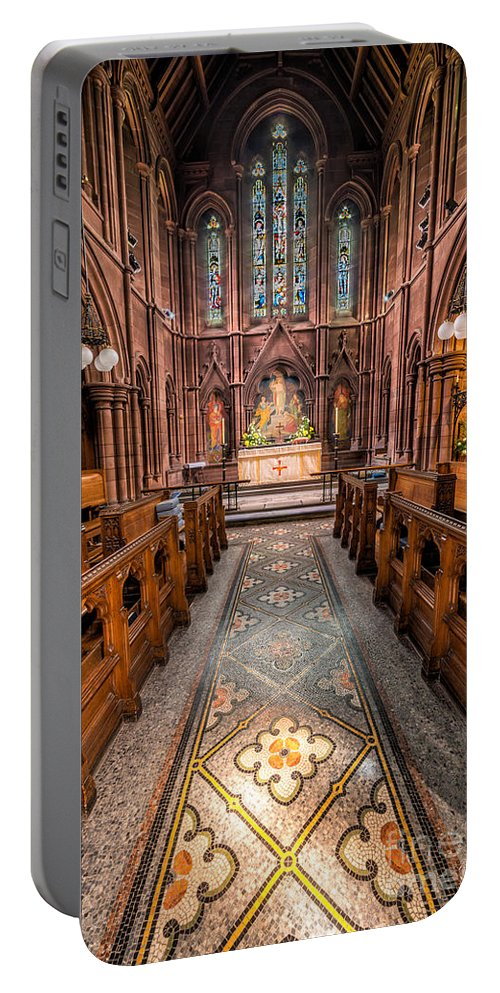 Anglican Portable Battery Charger featuring the photograph English Church 2 by Adrian Evans