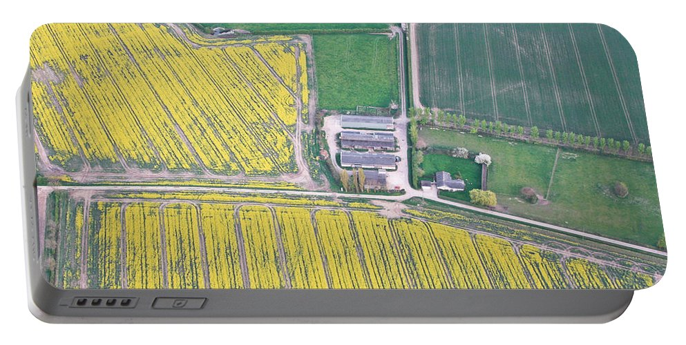 Above Portable Battery Charger featuring the photograph English Farm by Tom Gowanlock