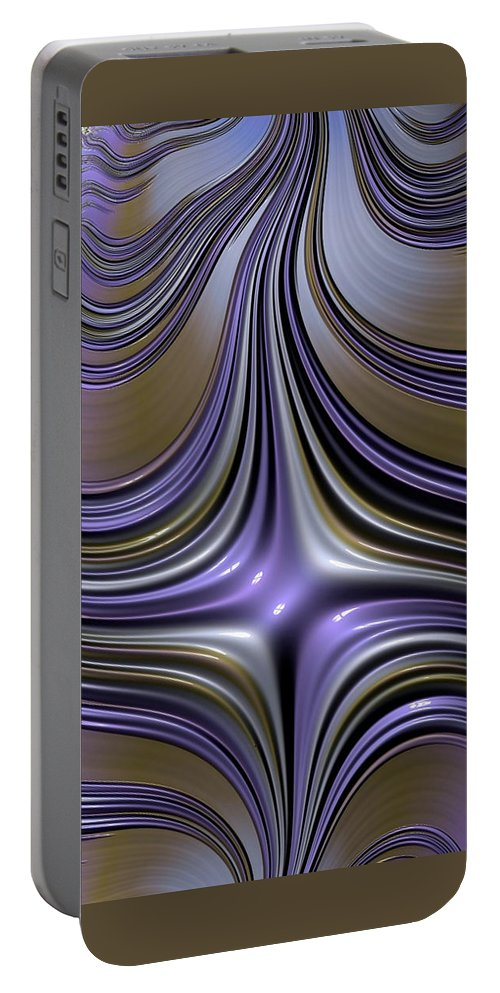 wet Nails fractal Art abstract Art Abstract Fashion women's Fashion girl's Fashion digital Art english Lavender Portable Battery Charger featuring the photograph English Lavender by Bill Owen