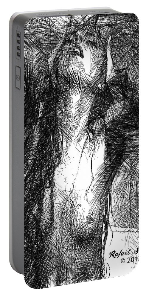 Art Portable Battery Charger featuring the digital art Enjoy The Feeling by Rafael Salazar