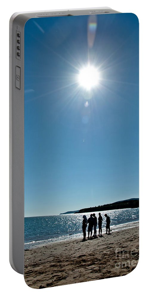 Portable Battery Charger featuring the photograph Enjoying The Sunshine by Cheryl Baxter