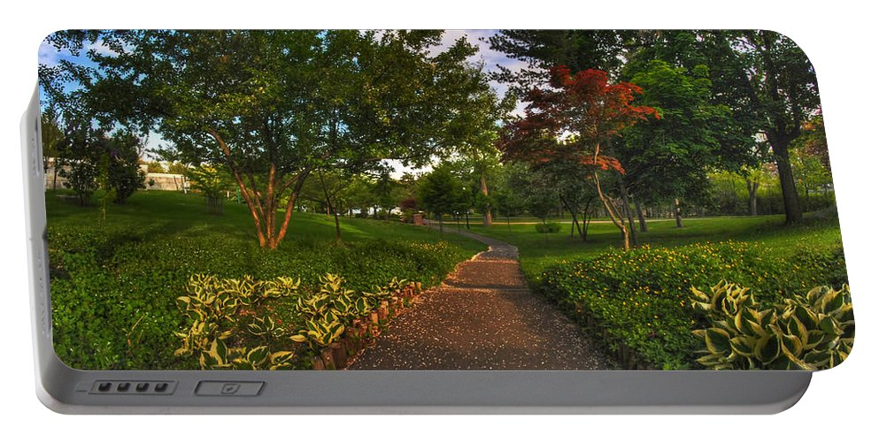 Garden Portable Battery Charger featuring the photograph Entering The Japanese Garden by Michael Frank Jr