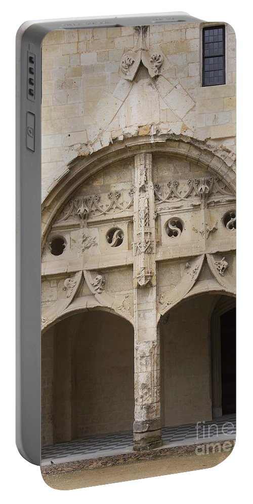 Cloister Portable Battery Charger featuring the photograph Entrance Fontevraud Abbey- France by Christiane Schulze Art And Photography