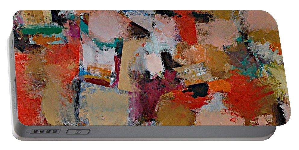 Landscape Portable Battery Charger featuring the painting Entropy by Allan P Friedlander
