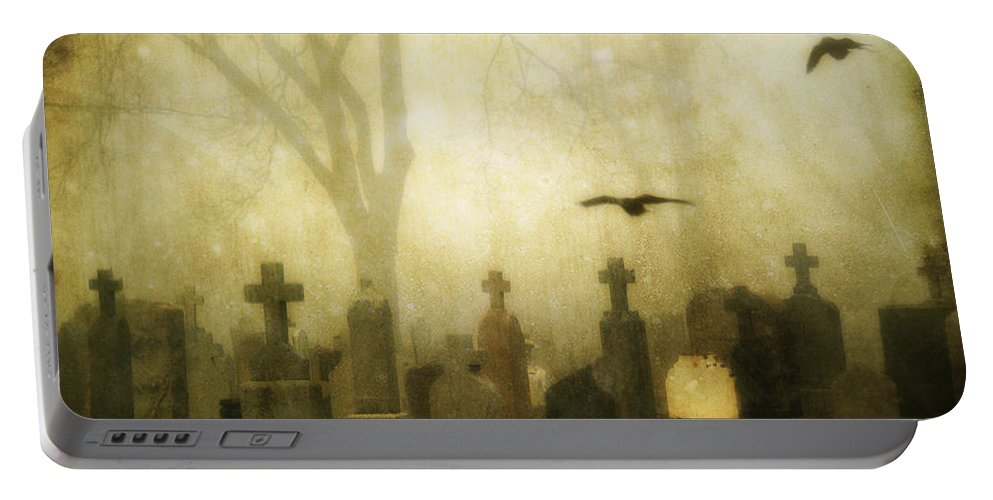 Foggy Portable Battery Charger featuring the photograph Enveloped By Fog by Gothicrow Images