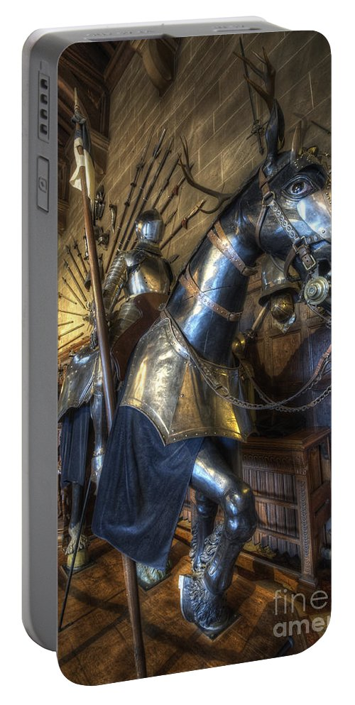 Yhun Suarez Portable Battery Charger featuring the photograph Equestrian Armour by Yhun Suarez
