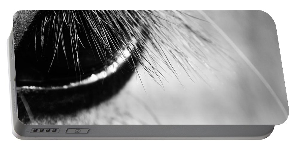 Horse Portable Battery Charger featuring the photograph Equine Eye by The Artist Project