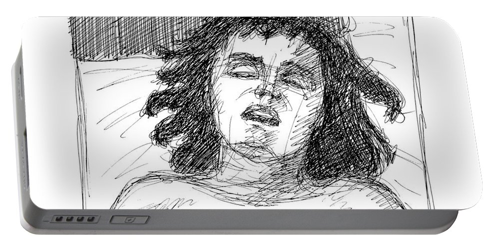 Erotic Renderings Portable Battery Charger featuring the drawing Erotic-drawings-24 by Gordon Punt