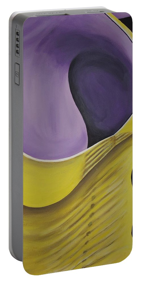 Female Body Portable Battery Charger featuring the painting Essence Of Violet by Dean Stephens