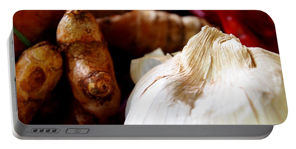 Garlic Portable Battery Charger featuring the photograph Essential Ingredients by Kaleidoscopik Photography