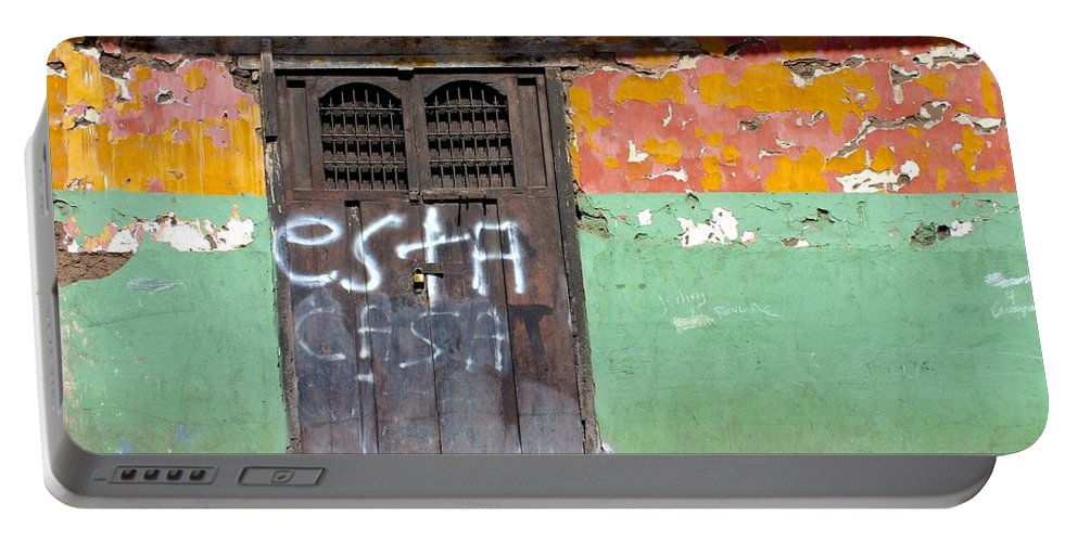 Doorways Portable Battery Charger featuring the photograph Esta Casa by David and Patricia Beebe