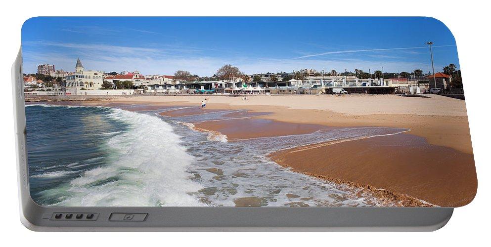 Estoril Portable Battery Charger featuring the photograph Estoril Beach In Portugal by Artur Bogacki