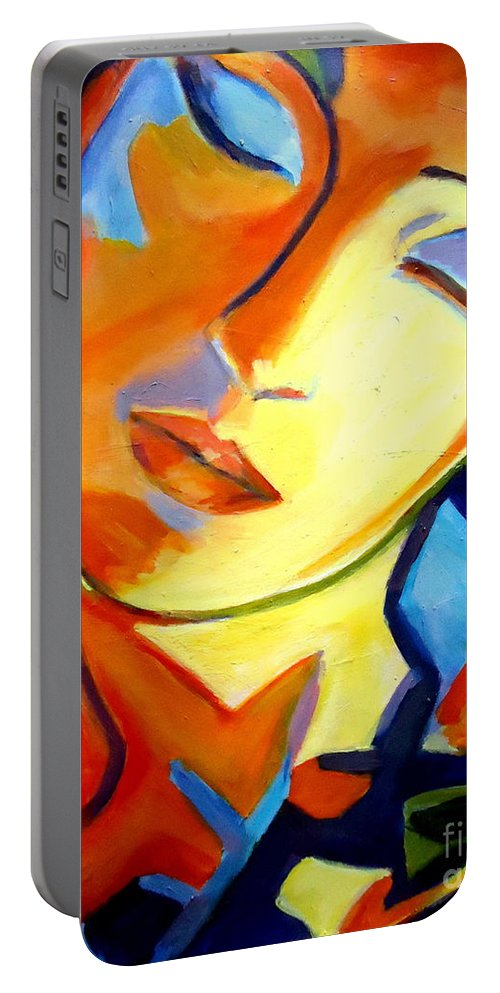 Art Portable Battery Charger featuring the painting Eternity by Helena Wierzbicki