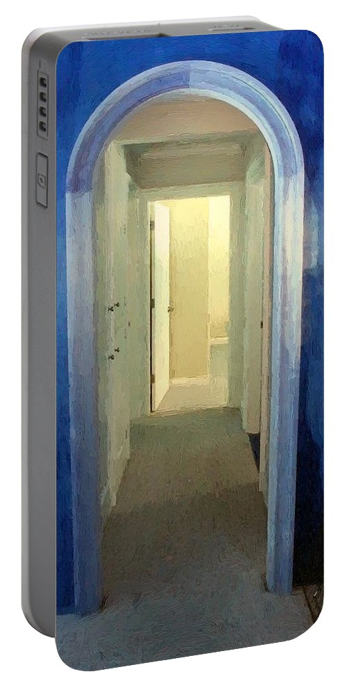 Room Portable Battery Charger featuring the painting Eternity's Antechamber by RC DeWinter