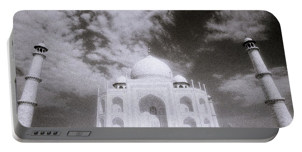 Taj Mahal Portable Battery Charger featuring the photograph Ethereal Taj Mahal by Shaun Higson