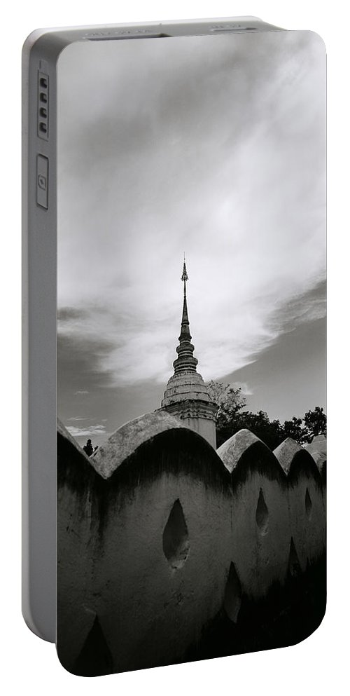 Wat Portable Battery Charger featuring the photograph Ethereal Wat Suan Dok by Shaun Higson