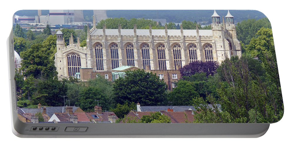 Windsor Portable Battery Charger featuring the photograph Eton College Chapel by Tony Murtagh