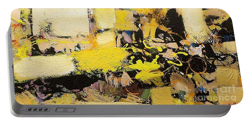Landscape Portable Battery Charger featuring the painting Euclid by Allan P Friedlander