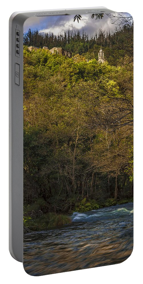 Caaveiro Portable Battery Charger featuring the photograph Eume River Galicia Spain by Pablo Avanzini