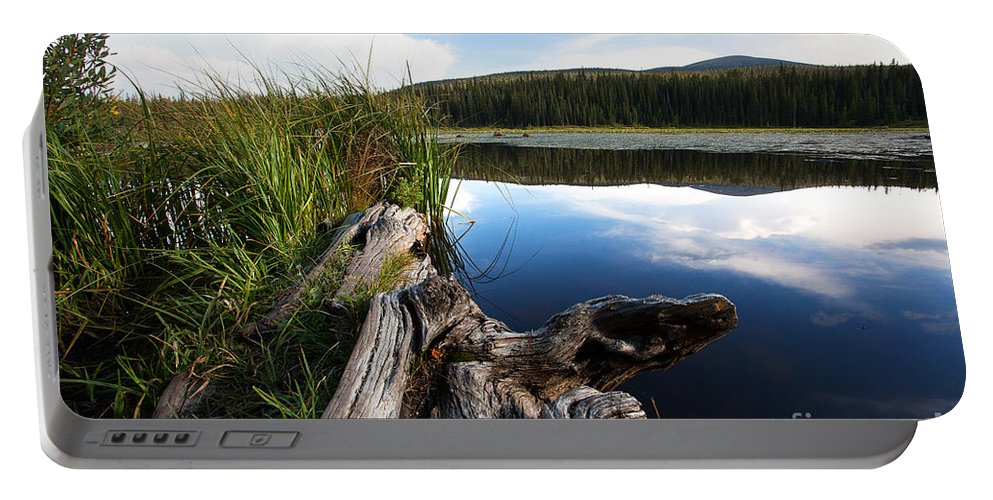 Red Rock Lake Photograph Portable Battery Charger featuring the photograph Evening At Red Rock Lake by Jim Garrison