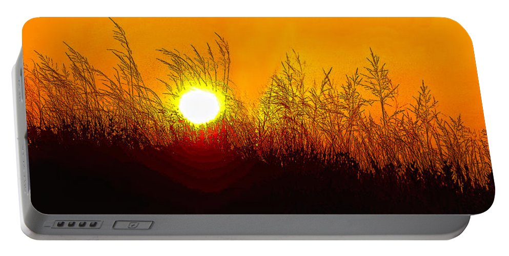 Sauble Beach Portable Battery Charger featuring the photograph Evening Dunes by Steve Harrington