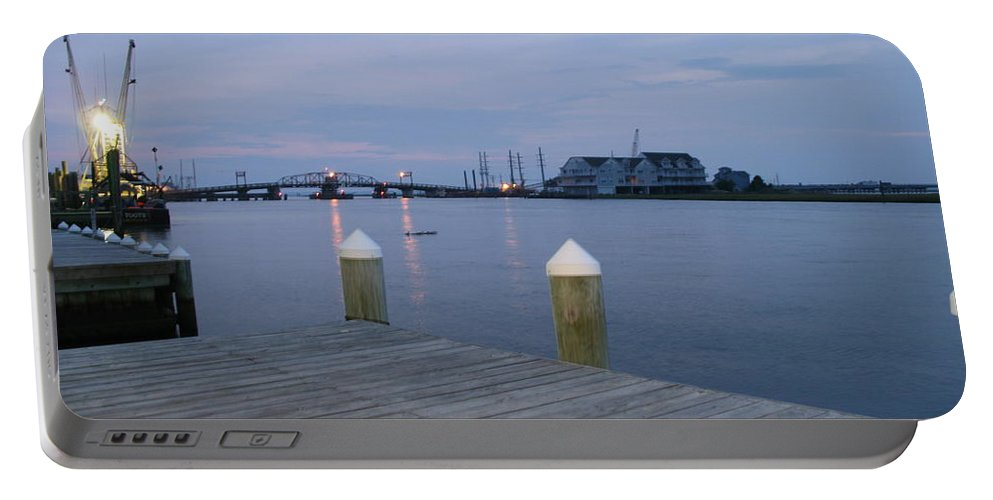 Evening Light Portable Battery Charger featuring the photograph Evening Light At Chincoteague Sound by Christiane Schulze Art And Photography