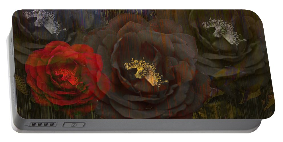 Rose Portable Battery Charger featuring the photograph Evening Roses by Angela Stanton