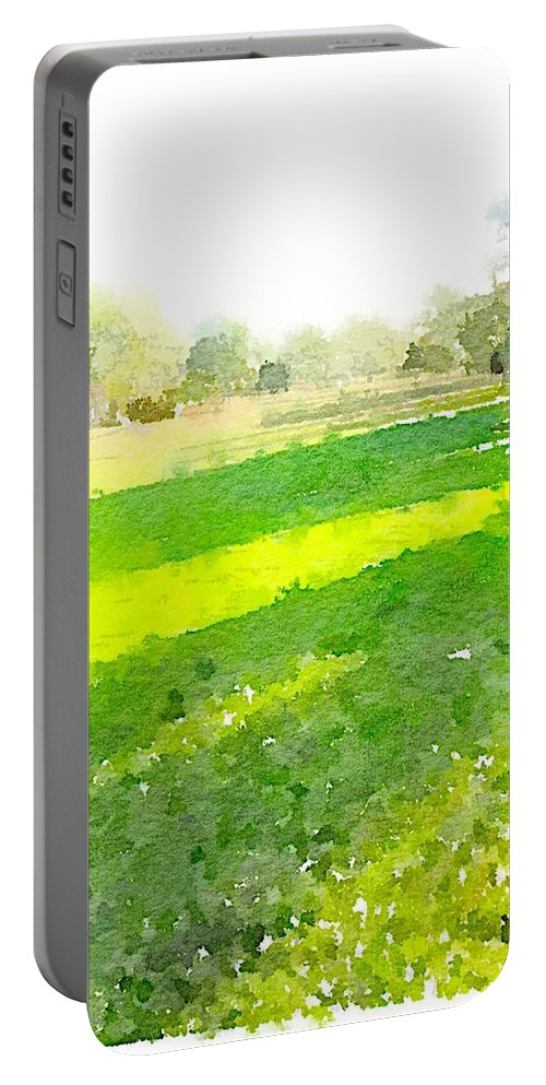 Waterlogue Portable Battery Charger featuring the digital art Evening Shadows by Shannon Grissom