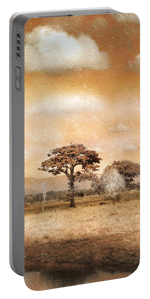 Landscapes Portable Battery Charger featuring the photograph Evening Showers by Holly Kempe