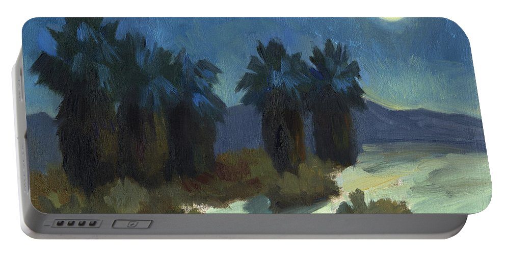 Evening Solitude Portable Battery Charger featuring the painting Evening Solitude by Diane McClary