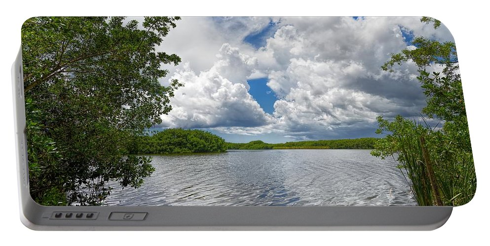 Everglades Portable Battery Charger featuring the photograph Everglades Lake - 0278 by Rudy Umans