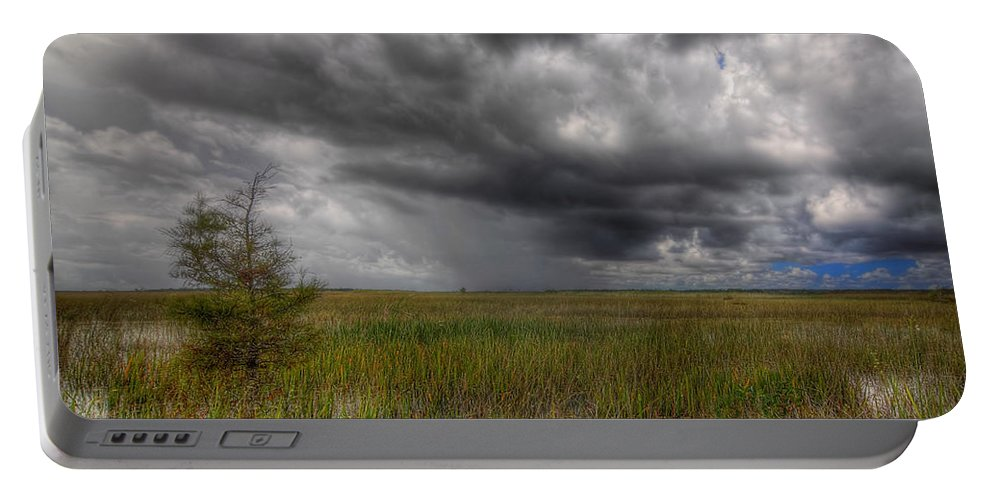 Bush Portable Battery Charger featuring the photograph Everglades Storm by Rudy Umans