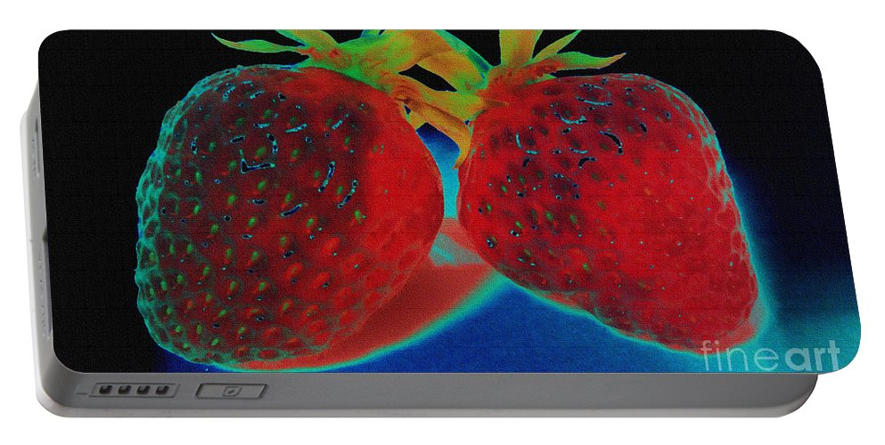 Strawberry Portable Battery Charger featuring the photograph Everybody Wants One by Martin Howard