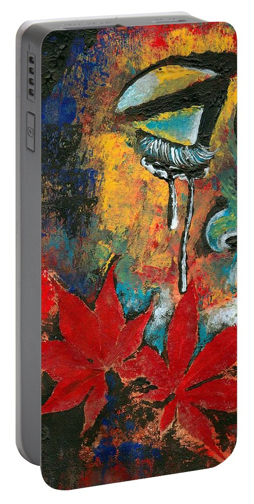 God Portable Battery Charger featuring the photograph Eves Sin by Artist RiA