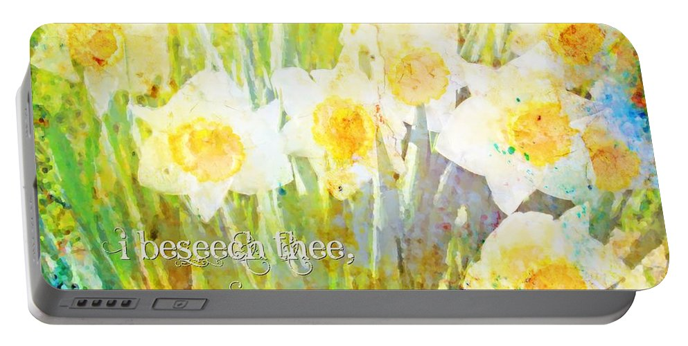 Jesus Portable Battery Charger featuring the digital art Exodus 33 18 by Michelle Greene Wheeler