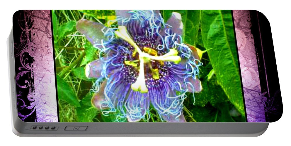 Flower Portable Battery Charger featuring the photograph Exotic Strange Flower by Absinthe Art By Michelle LeAnn Scott