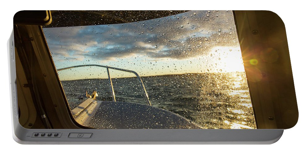 Adventure Portable Battery Charger featuring the photograph Expedition Boat In Repulse Bay by WorldFoto